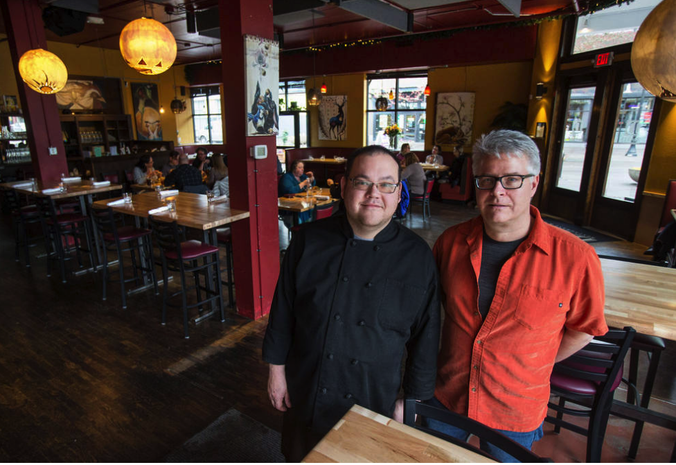Chef Jeff Hardinger (left) and Tom Kamis are owners of The Davis Restaurant